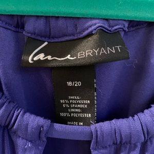 Lane Bryant Dresses - Size 18-20 Lane Bryant rich blue full skirt dress